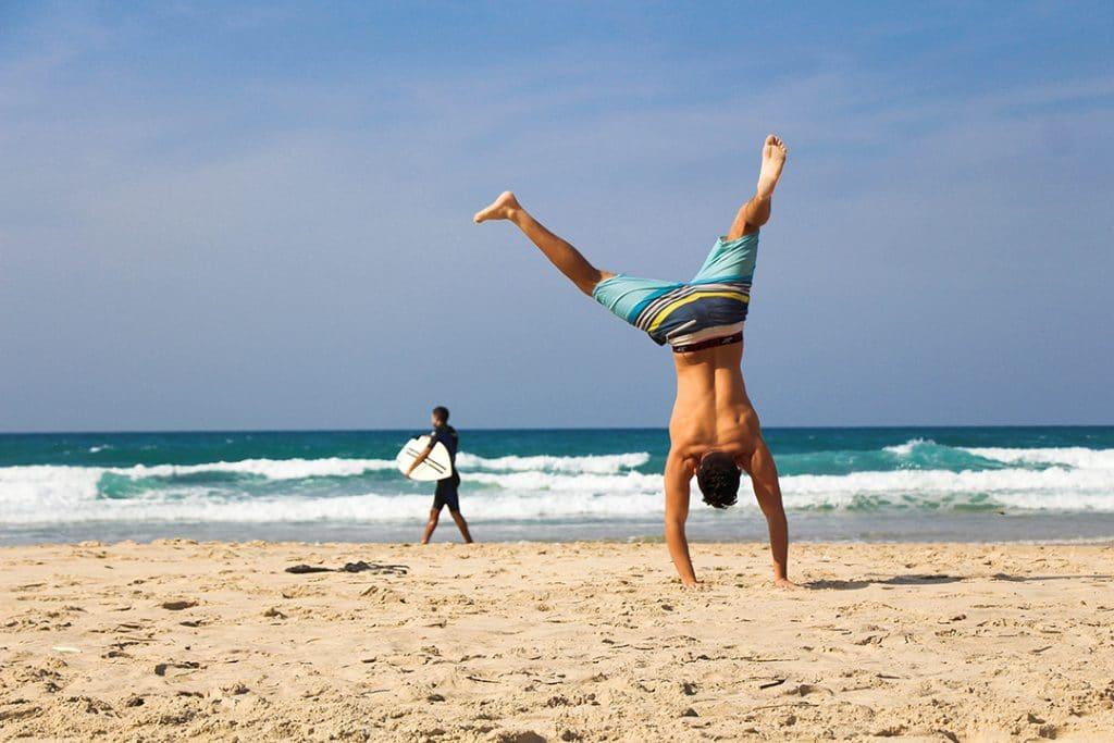 fitnessvakantie handstand